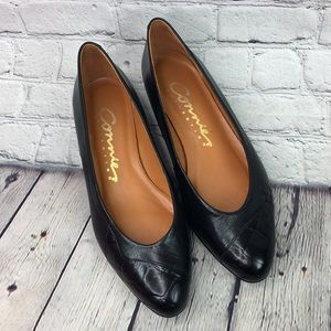 Connie Broadcast Pointed Toe Leather Flats